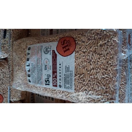 Sac de granules de bois 15 kg SCHUSTER.